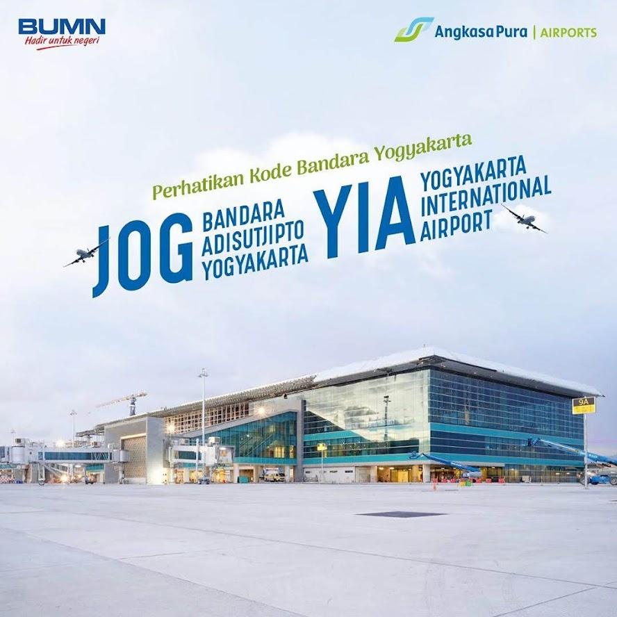 3 letter code bandara Yogyakarta