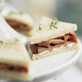 Roast Beef and Horseradish Mayonnaise Tea Sandwiches