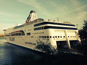 Photo: På fredag eftermiddag låg båten redo för att ta emot oss alla stickare från både när och fjärran!