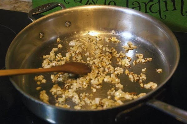 Sauté until softened, but not browned, about 8 to 10 minutes.
