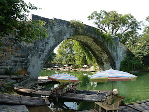 Photo: Yangshuo - Dragon bridge and view from there