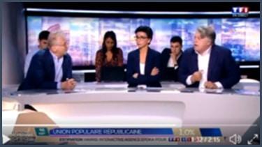 Daniel Cohn-Bendit, Rachida Dati et Gilles Collard sur le plateau de TF1