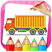 Tải Vehicle Drawing and Coloring Book APK