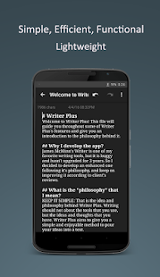 Writer Plus (Write On the Go) Screenshot