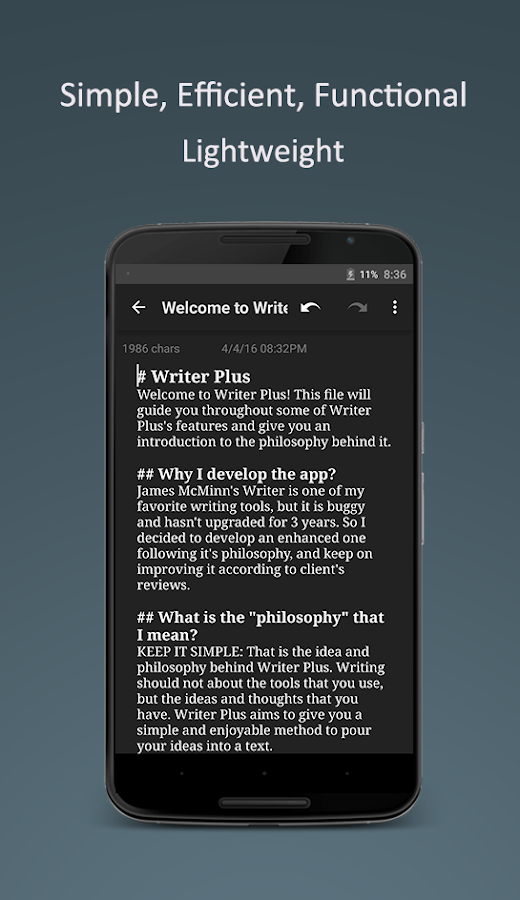 Writer Plus (Write On the Go)- screenshot