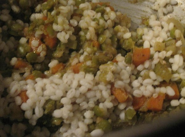 While the split peas are cooking make the barley in a separate pot. Add...