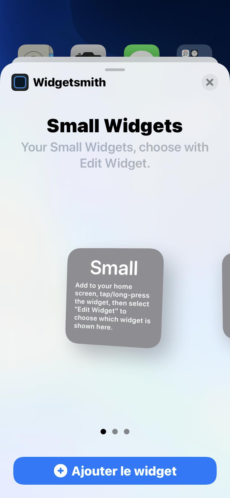 WidgetSmith - tuto comment utiliser l'application