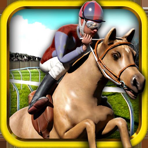 跑馬騎馬的運行免費 - 3D 跳躍 & 賽跑馬賽車遊戲 休閒 App LOGO-硬是要APP