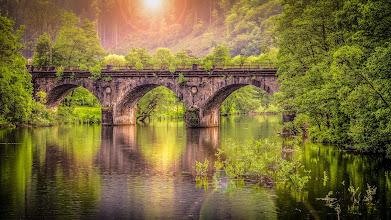 Photo: #Erinnerungen an den letzten #Sommer  - #Memories on last #summer  - #river #fluss #flusslandschaft #Werdohl #Sauerland #Germany #Deutschland #märkischerkreis #Viaduk #eisenbahnviadukt #viaduct #bridge #brücke