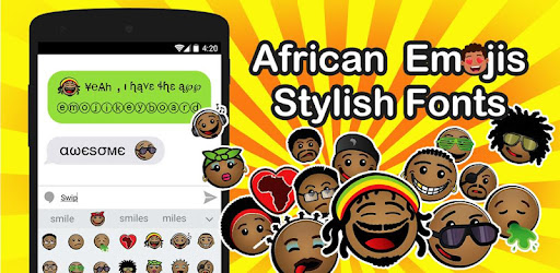 African Emoji Keyboard 2018 - Cute Emoticon app (apk) free download for Android/PC/Windows screenshot