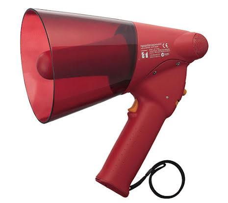 TOA ER-1206S   Handhållen vattensäker Röd Megafon med Siren
