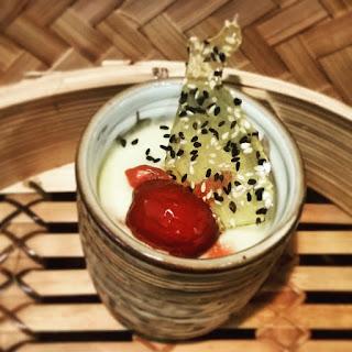 Ginger Mushi! Dessert Chawanmushi & Sesame Praline Shards