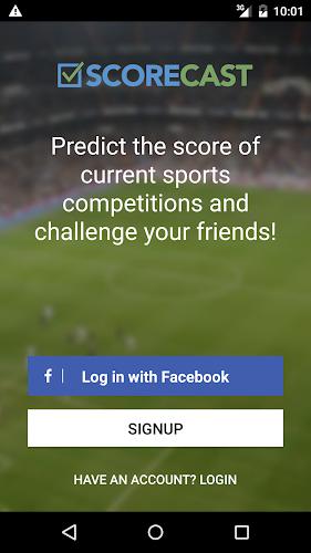 Scorecast Android App Screenshot