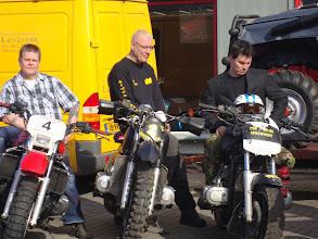 Photo: Olaf ging met de GL 1500, Teun met de GL 1100 en Loek met de GL 1200