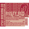 O'So Rusty Red Ale