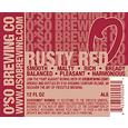 O'So Rusty Red Ale