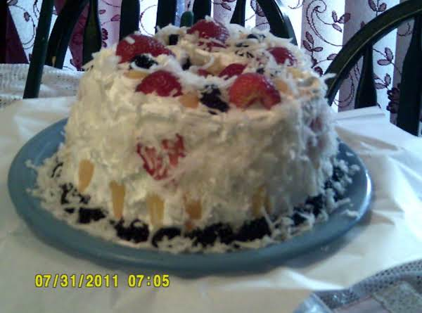 Angle Food Fruit Cake Recipe