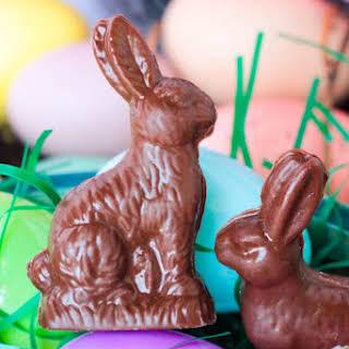Homemade Chocolate Peanut Butter Rabbits.