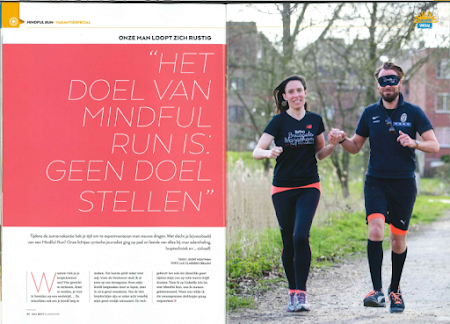 Hannes en zijn instructeurs in Go Running