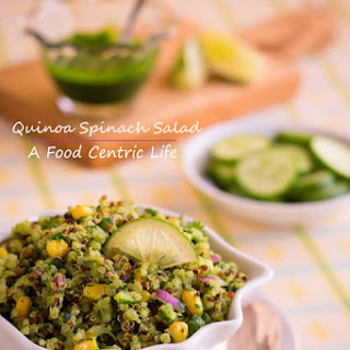 Green Quinoa Salad with Spinach Dressing