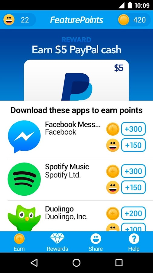 FeaturePoints: Free Gift Cards- screenshot