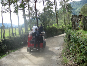 Photo: This is how you get to Valle de Cocora.  Open air seating optional.