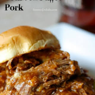 Slow Cooker Bourbon Pulled Pork.