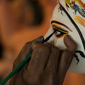 Making of Goddess by Soumyadip Maity - Abstract Fine Art ( clay, puja, kolkata, making, durga )