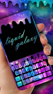 Liquid Galaxy Droplets Keyboard Theme - náhled