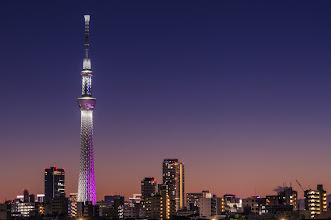 Photo: Skytree Nightfall  I'll always prefer the colors of dusk with a lovely beach scene or mountainous landscape, but the view of the Tokyo Skytree from the Arakawa River offers a great combo as well.  Blog post: http://lestaylorphoto.com/skytree-nightfall/  #japan #travel #cooljapan #tokyoskytree