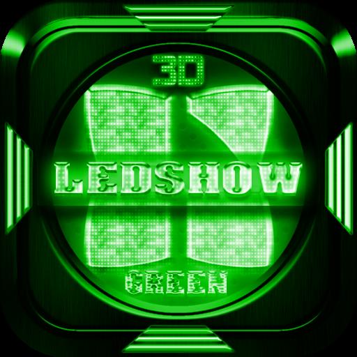 Next Launcher Theme LedShowGRN