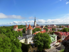 Photo: At 522 feet, Saint Olaf (the tall spire in this view of the lower town from the upper town) was the tallest building in the world until 1625 when it was struck by lightning.