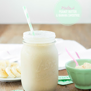 Malted Peanut Butter & Banana Smoothie