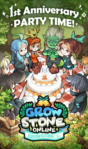 Grow Stone Online : 2d pixel RPG, MMORPG game APK - Android Role