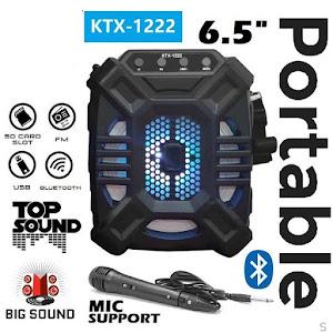 Boxa karaoke Bluetooth KTX-1222, Radio FM, USB