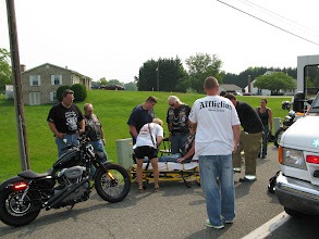 Photo: Lots of road rash and a bum leg earned this young lady a trip to the ER