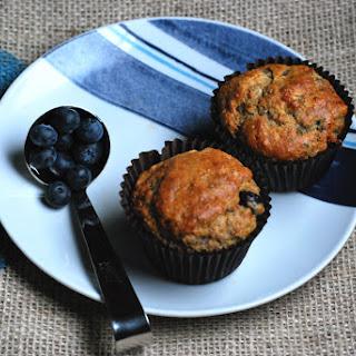 Spelt Blueberry Chia Muffins.