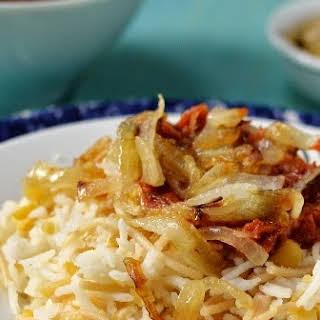 Egypt - Koshari (Vegetarian Rice, Lentil & Vermicelli Dish).