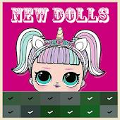 Pixel Art Surprise Dolls, LoL Color By Number Mod