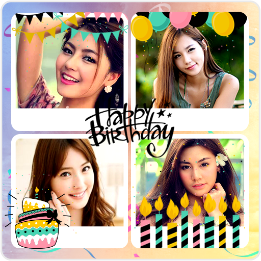 Happy Birthday Collage Maker Photo Editor Free