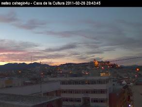 Photo: precioso atardecer desde la webcam de la Casadelacultura en #cehegin