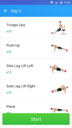 Home Workout - Six Pack in 30 Days - screenshot