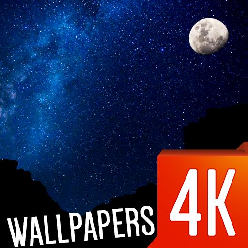 个人化の夜空、星の壁紙4K LOGO-記事Game