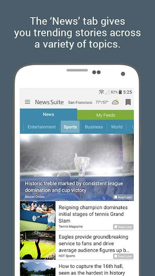 News Suite by Sony screenshot for Android