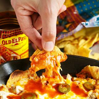 Cheesy Enchilada Chicken Chilaquiles.