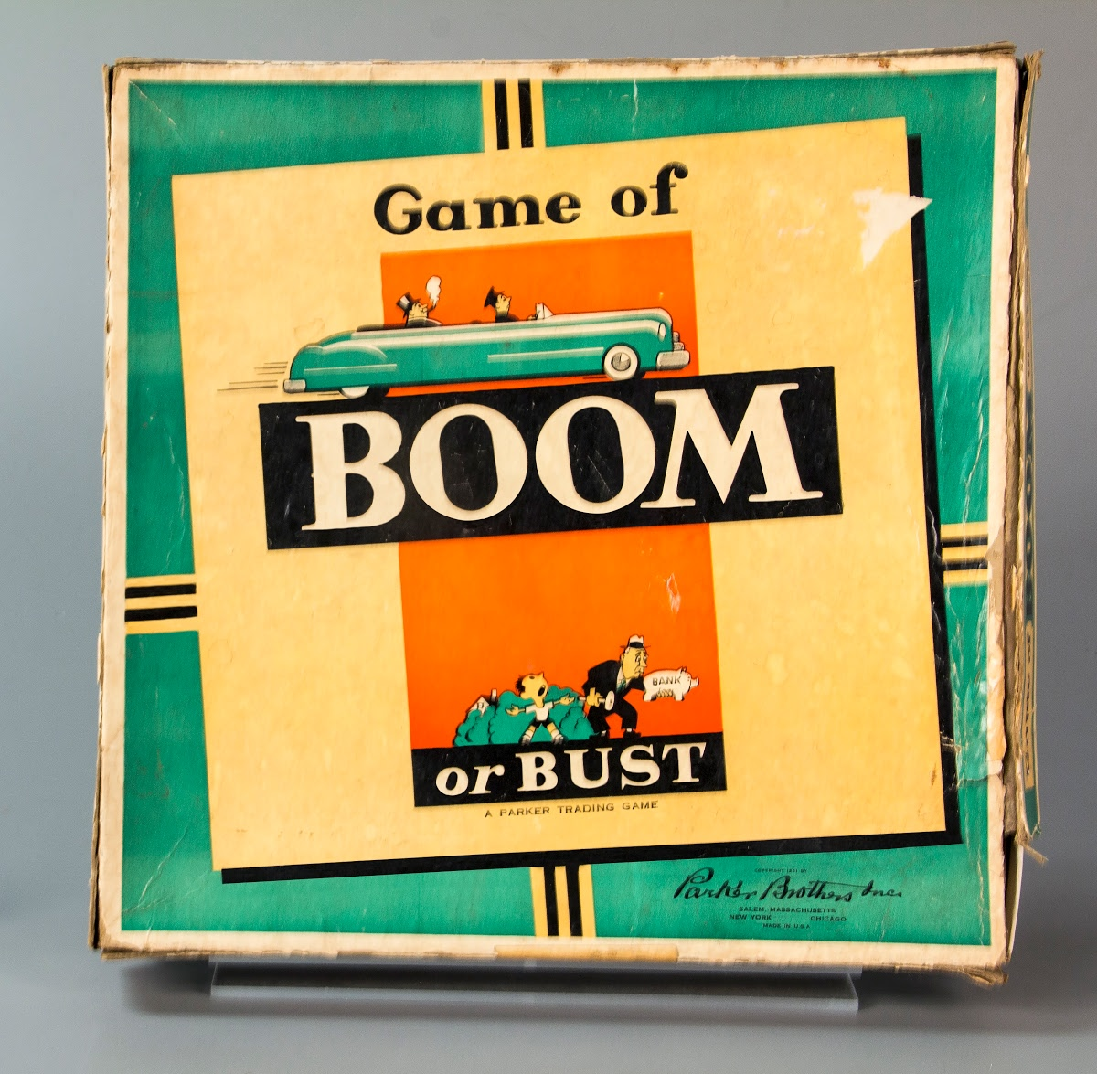 Board game:Game of Boom or Bust - Parker Brothers Inc