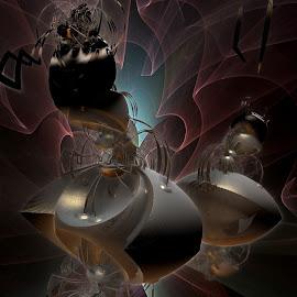 Elaborate Kinship by Rick Eskridge - Illustration Sci Fi & Fantasy ( fantasy, jwildfire, mb3d, fractal, twisted brush )