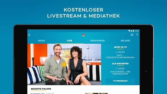 sat 1 kostenloses live tv und mediathek apps on google play. Black Bedroom Furniture Sets. Home Design Ideas