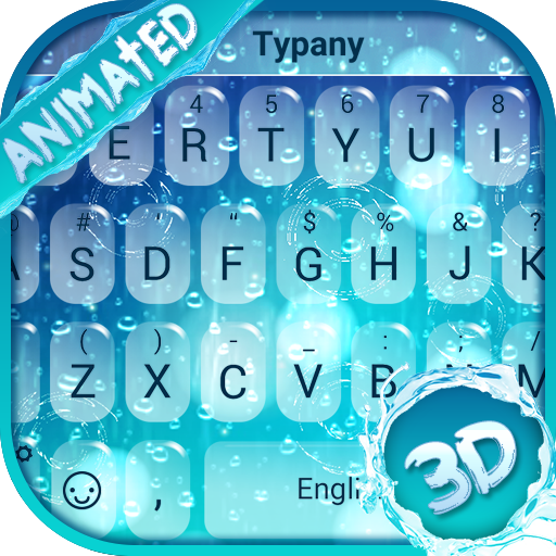 Animated Rainy Day Theme&Emoji Keyboard