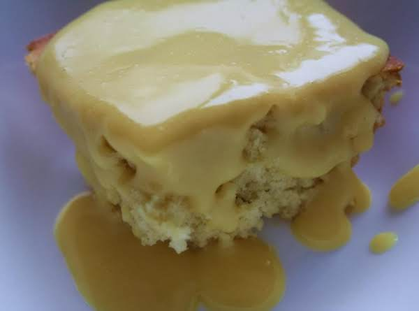 Cottage Pudding With Custard Sauce